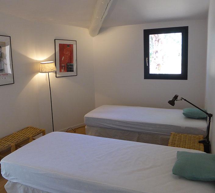 Calitu : chambre avec lits jumeaux