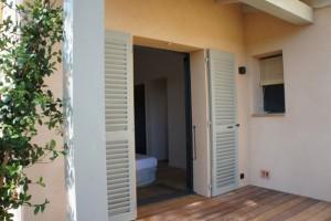 Calitu : terrasse chambre