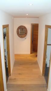 Casucia : couloir, vue plongeante