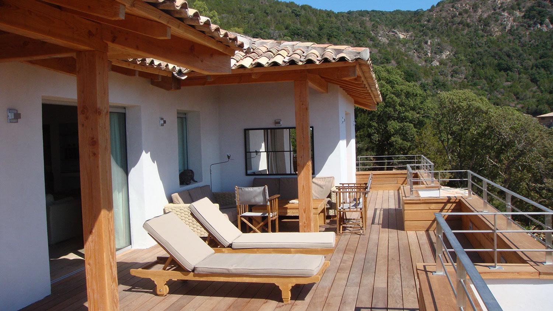 Casucia : terrasse, bain de soleil