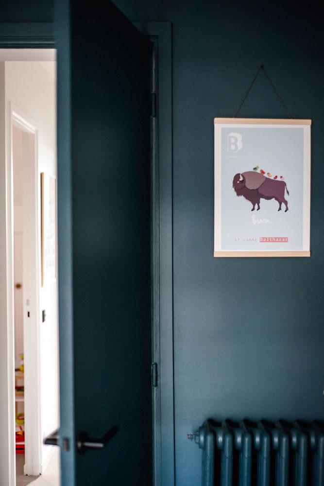Doumer, Paris 16e : la chambre d'enfant, détail déco