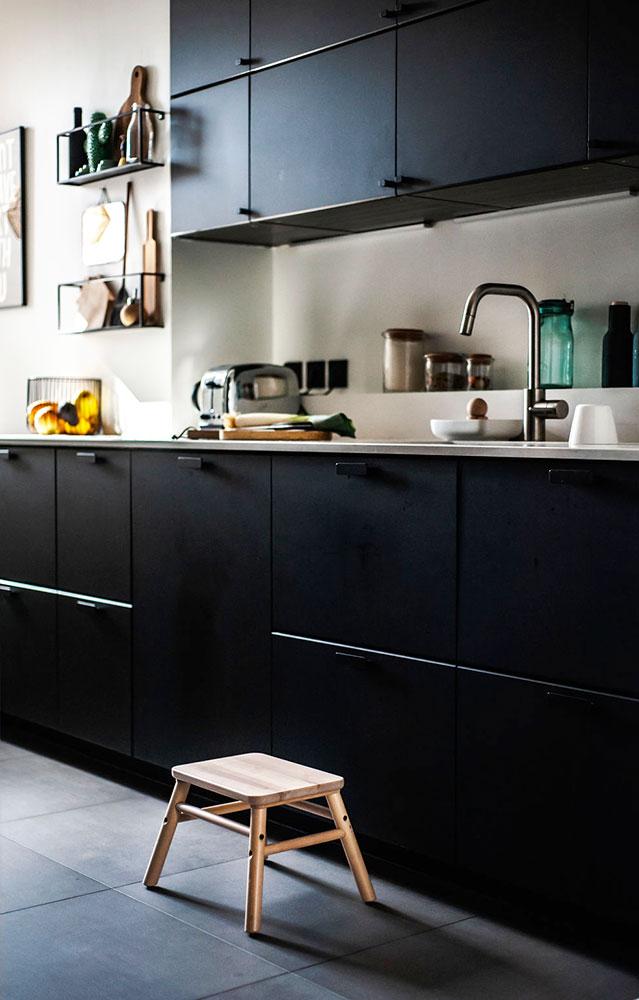 Doumer, Paris 16e : cuisine, détail meubles