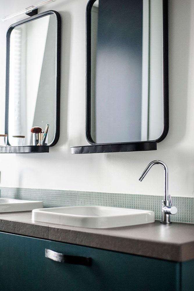 Doumer, Paris 16e : salle de bain, détail meuble