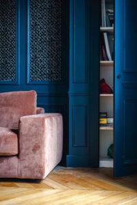 Doumer, Paris 16e : salon, placard intégré