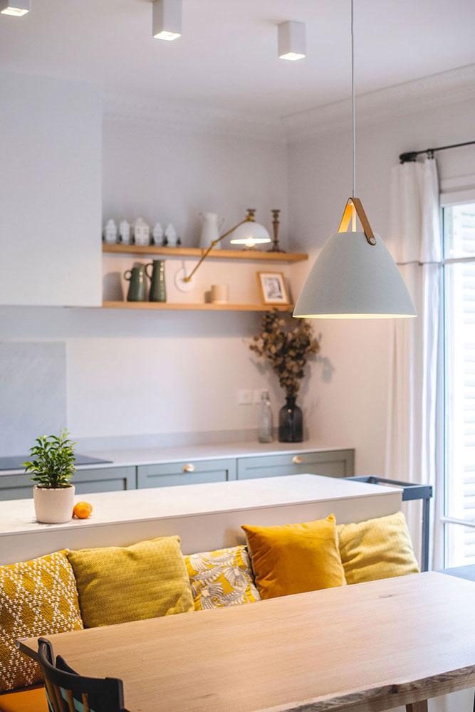 Fillon Paris 17e : cuisine et salle à manger