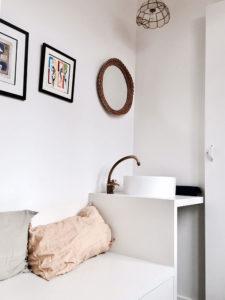 Maison avenue des Vignes, Saint-Cloud : cabinet de toilette