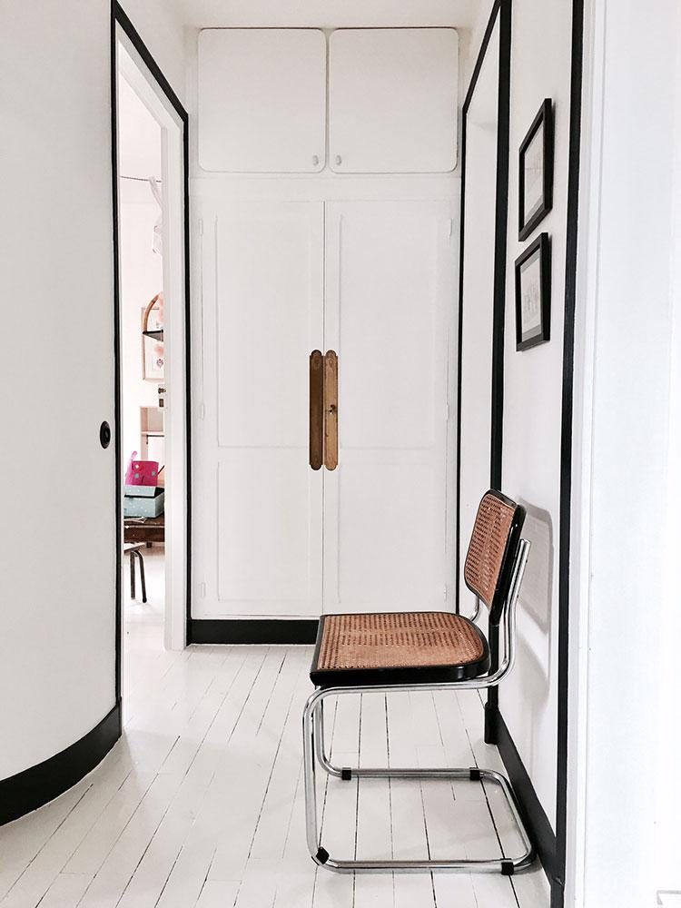 Maison avenue des Vignes, Saint-Cloud : couloir, vue 2