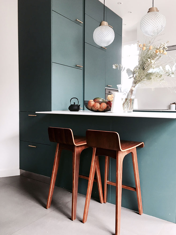 Maison avenue des Vignes, Saint-Cloud : cuisine, détail mobilier
