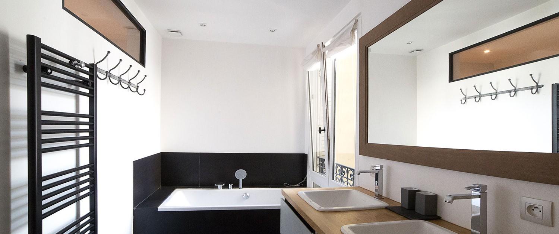 Paris 7e, quartier du Bon Marché : salle de bain