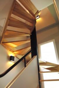 Sagama, l'escalier en bois